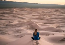 guided meditation tips for beginners woman in desert